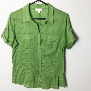 Charter Club blouse  Green Size 10